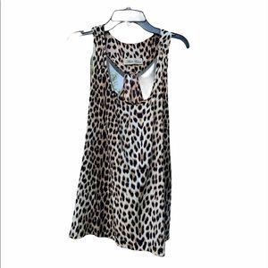 Alisha Levine T-back Leopard Print Top